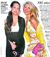 Christie Brinkley Her Daughter At The Hampton Magazine Party Carrying Moyna Bags